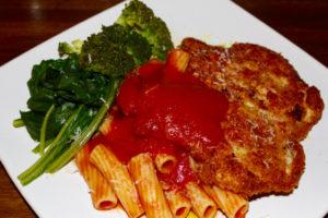 Pollo Parmigiano e Pasta Pomodoro (Chicken Parmesan and Tomato Pasta), Chicken Escalope Parmesan, Chicken Parmesan, Chicken Escalope