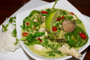 Thai Green Curry with Sticky Rice, Thai Green Curry, Thai Curry