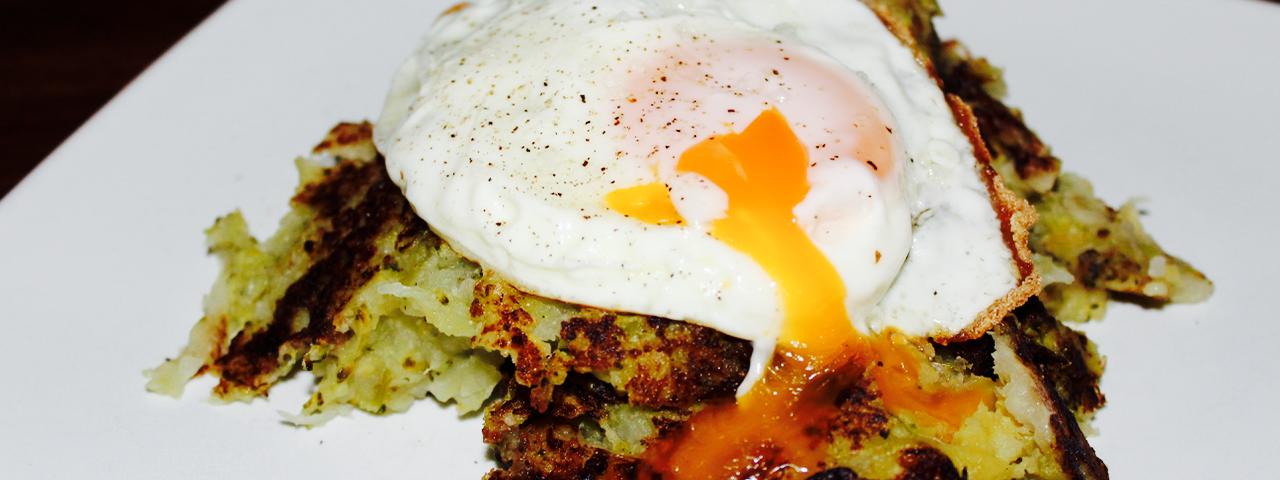 Bubble and Squeak with fried egg