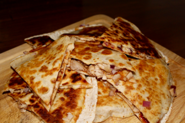 Pulled BBQ Chicken Quesadillas
