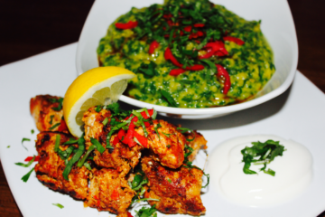 Chicken Tikka with Tarka Saag Daal