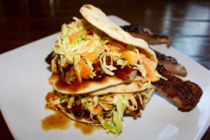 Easter Recipe ideas, BBQ Pork Flatbreads with Homemade Coleslaw and Honey BBQ Glaze
