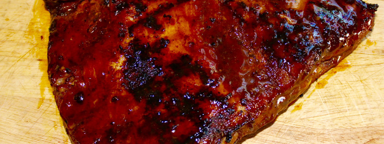 Rack of Ribs with homemade BBQ sauce