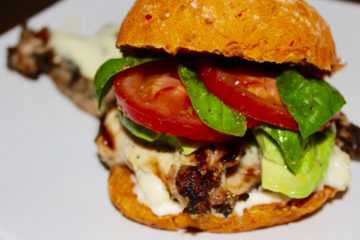 Chicken Caprese Burger