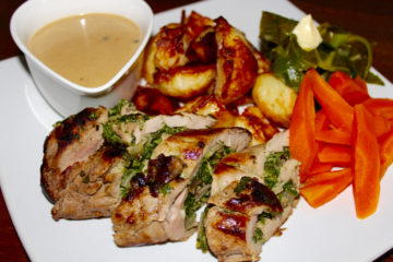 Roasted Pork Tenderloin with Brandy and Peppercorn Sauce