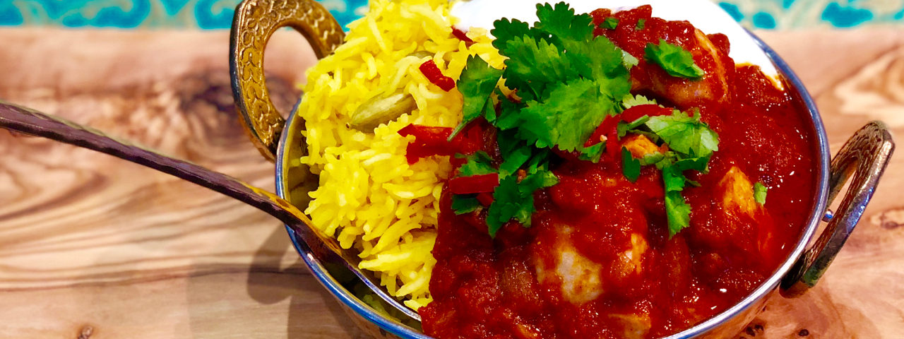 Red Gurnard Curry with Pilau Rice