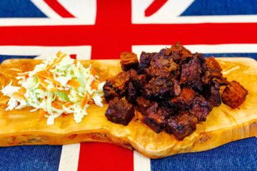 Beef Brisket 'Burnt Ends' and Homemade Coleslaw