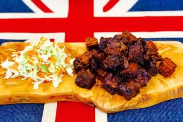 Beef Brisket 'Burnt Ends' and Homemade Coleslaw