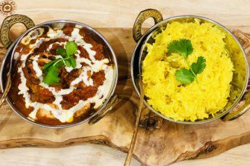 Tandoori Chicken Madras with Pilau Rice